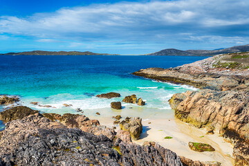 Wall Mural - A sandy cove at Seilebost on the Isle of Harris