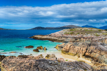 Wall Mural - Rugged coastline and secret sandy coves at Traigh Seilebost