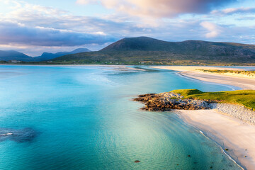 Wall Mural - Summer evening at Seilebost on the Isle of Harris
