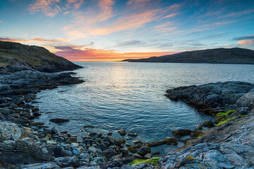 Wall Mural - Sunset from Hushinish on the Isle of Harris