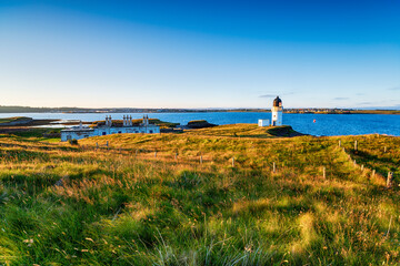 Wall Mural - Summer evening at the lighthouse at Arnish Point