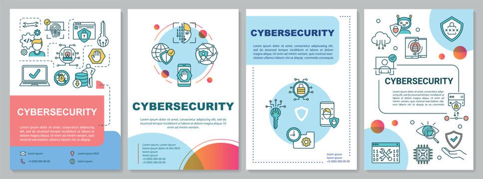 Cybersecurity framework brochure template