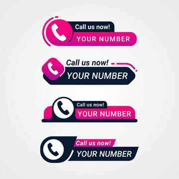 Call us now button logo sign and symbol vector illustration