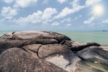 sea waves and fantastic Rocky coast
