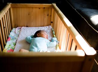 baby sleeps in crib