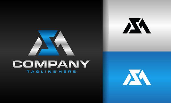 monogram letter MZ logo