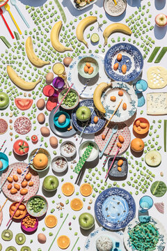 colorful and creative food mosaic