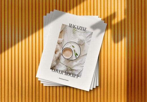 Magazine Stack Cover Mockup Scene
