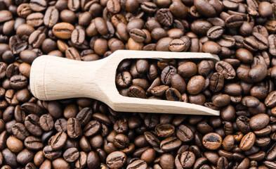 geröstete Kaffee Bohnen