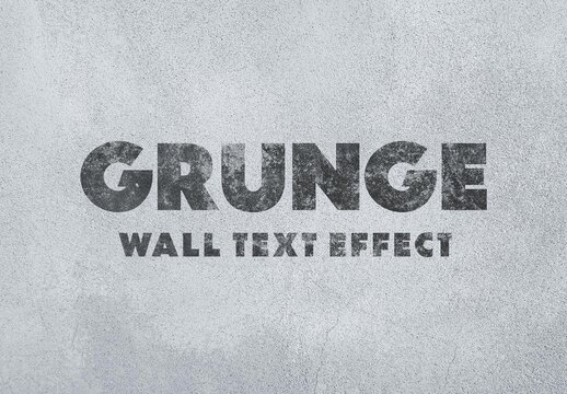 Grunge Wall Painting Text Effect Mockup