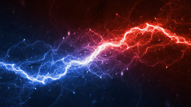 Hot fire and ice cold plasma background, abstract energy