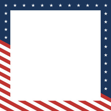 Patriotic Stars and Stripes Independence Day Holiday Vector Illustration Background