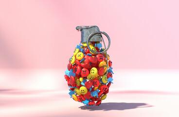 Grenade made with emoji
