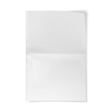 Blank newspaper sheet mockup. Empty paper journal. Vector illustration