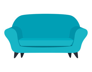 Fototapeta Isolated blue couch vector design obraz