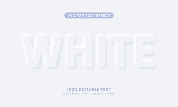 Editable Stylish White Text Effect. Simple, modern, and elegant. Easy to edit. Vector illustration.
