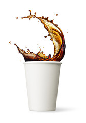 cup of coffee splashing