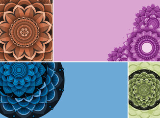Beautiful colour mandala background