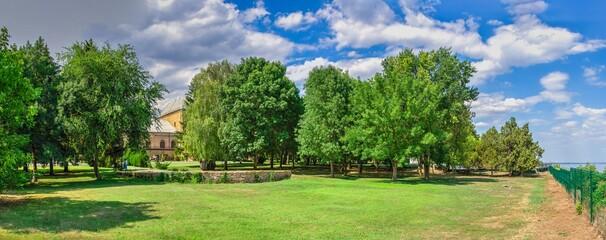 Fototapeta Park in the Chateau of Prince Trubetskoy in Ukraine