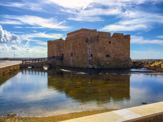 old fortress on the sea paphos cyprus