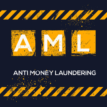 AML mean (Anti Money Laundering),Vector illustration.