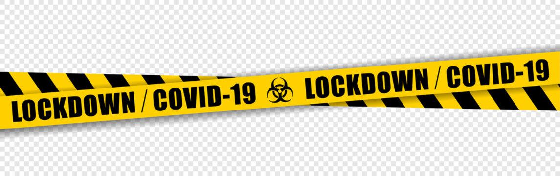 Lockdown - Covid-19 tape