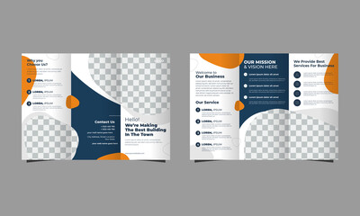 Abstract corporate, business ,a4 annual report,minimal, editable Tri-fold vector brochure template