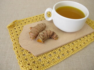 Golden yellow tea with Turmeric