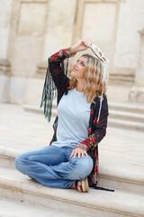 Bohemian fashion young women