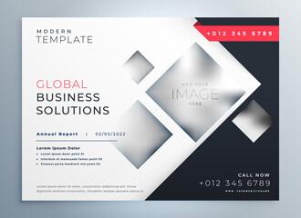 modern business brochure presentation geometric template design