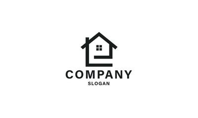 creative real estate logo design with letter L combination