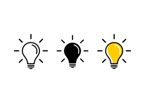 Light Bulb icon vector. Light Bulb sign.   Idea, solution symbol