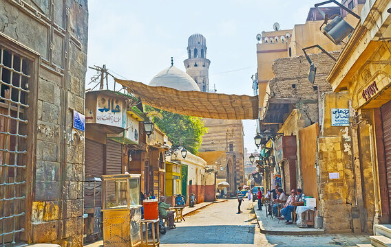 The medieval housing in Islamic Cairo district, on Oct 10, 2014 in Cairo, Egypt