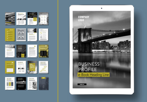 Business Profile Ebook Layout