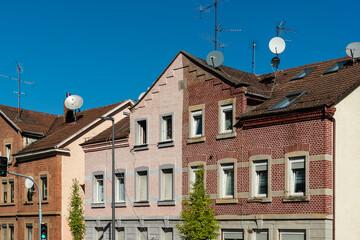Wohnhäuser mit Backsteinfassaden in Heilbronn
