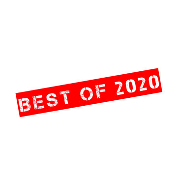 Rubber stamp with text Best of 2020