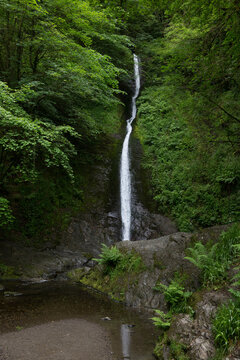 Whitelady Waterfall at Lydford Gorge in Devon UK