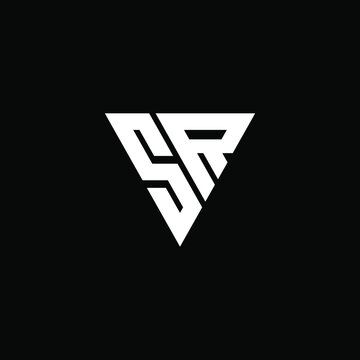 sr vector logo abstract