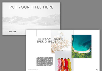 Presentation Layout with Black/White Accents