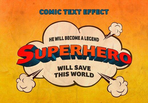 Title 3D Comic Text Effect Mockup