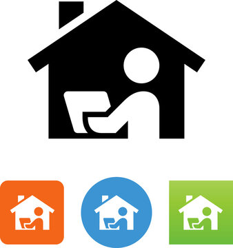 WFH Work From Home Vector Icon