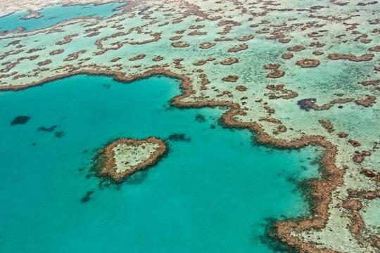 Heart Reef - Great Barrier Reef aerial Australia