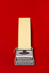 Collage of vintage typewriting