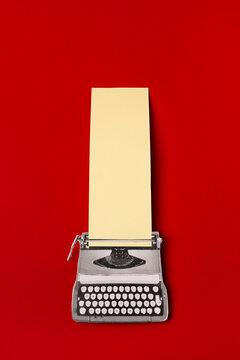 Collage of vintage typewriting