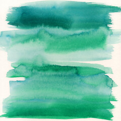 Green and Blue Abstract Watercolor Painting