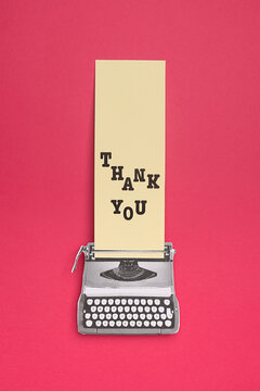 Typewriting with the word THANK YOU