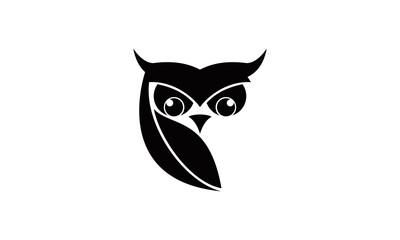silhouette owl bird vector