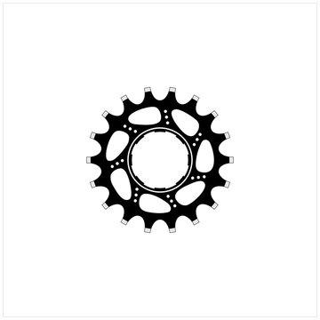 Wheel Rear Gear Cassette Sprocket Cogs Chain Ring Bicycle  Logo Design