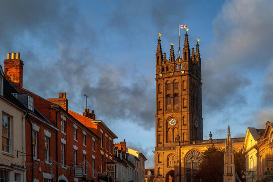 Church. Warwick, county town of warwickshire, english midlands england UK
