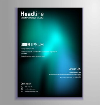 template design, anual report, brochure cover, business card, flyer design. trendy gradient color. eps 10 vector